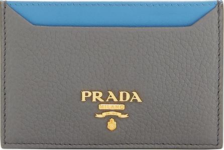 Prada Bi-Color Vitello Daino Card Case