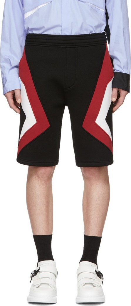 Neil Barrett Black & Red Stripe Shorts