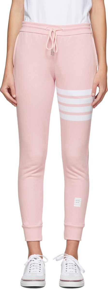 Thom Browne Pink Classic Loopback 4-Bar Lounge Pants