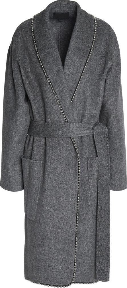 Alexander Wang Belted embellished felt coat
