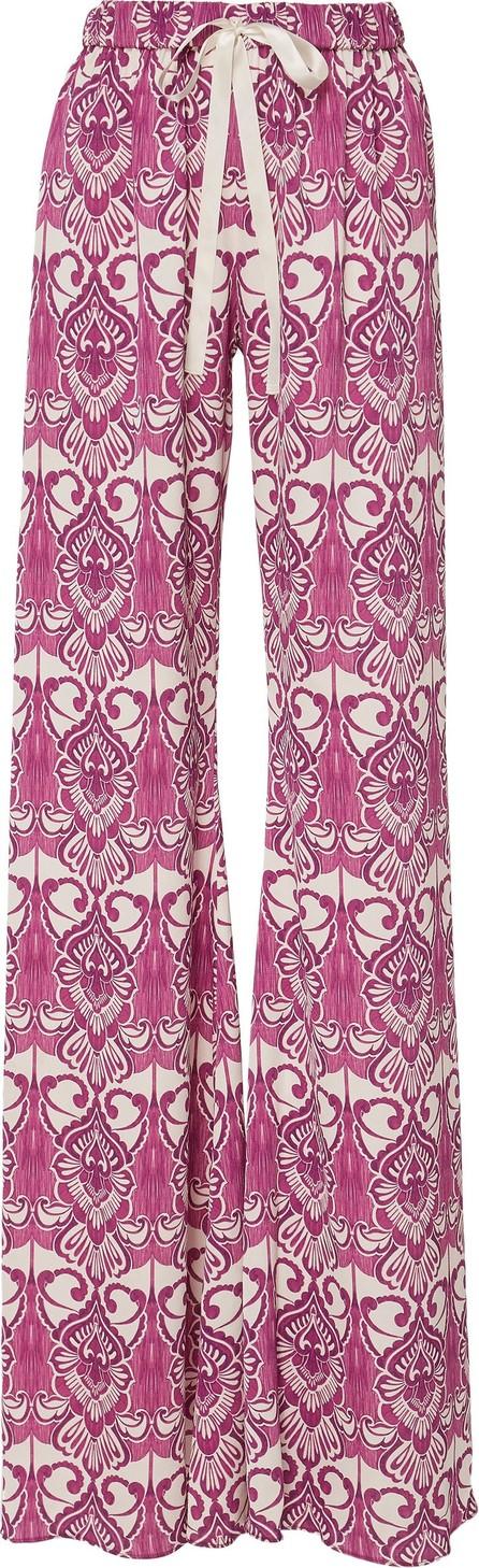 Alexis Odille Printed Crepe Wide-Leg Pants