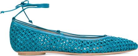 Casadei woven pointed ballerina pumps