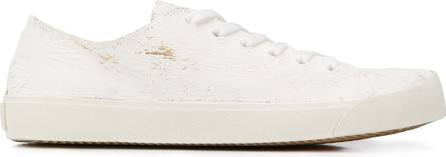 Maison Margiela Tabi distressed low-top sneakers