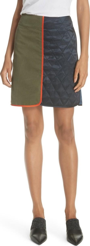 Harvey Faircloth Mixed Media Miniskirt