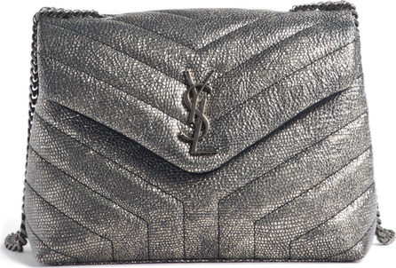 Saint Laurent Loulou Small Metallic Leather Shoulder Bag
