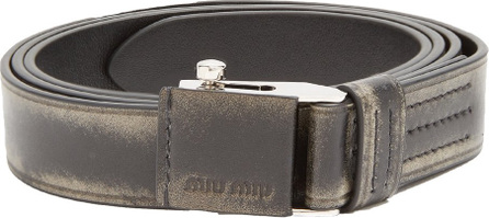 Miu Miu Distressed leather belt