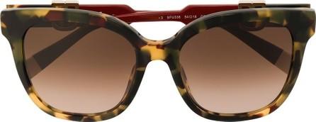 Furla SFU338 oversized frame sunglasses