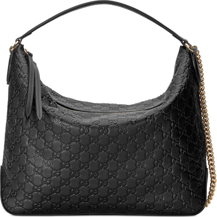 Gucci Linea A Large Guccissima Leather Hobo Bag