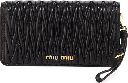 Miu Miu Matelasse Wallet On A Chain Tech Case