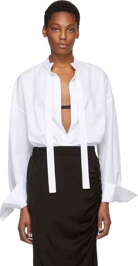 Haider Ackermann White Tie Neck Shirt