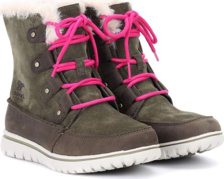 Sorel Cozy Joan suede ankle boots