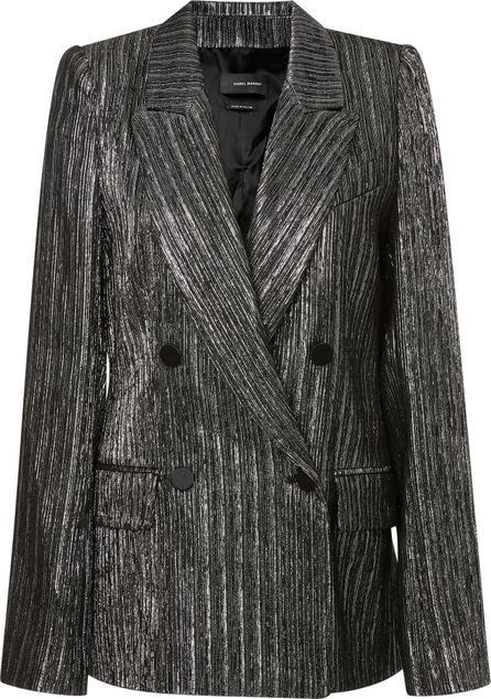 Isabel Marant Denel Metallic Double Breasted Jacket