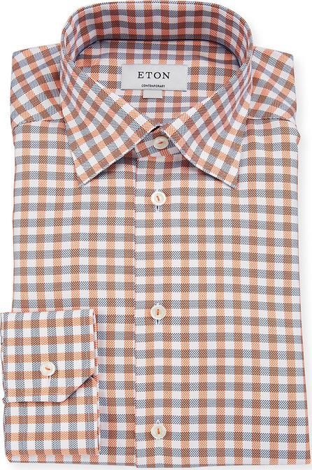 Eton Contemporary-Fit Large-Tattersall Dress Shirt