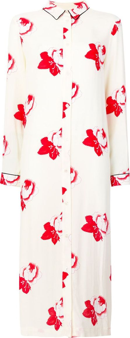 Ganni Floral embroidered shirt dress
