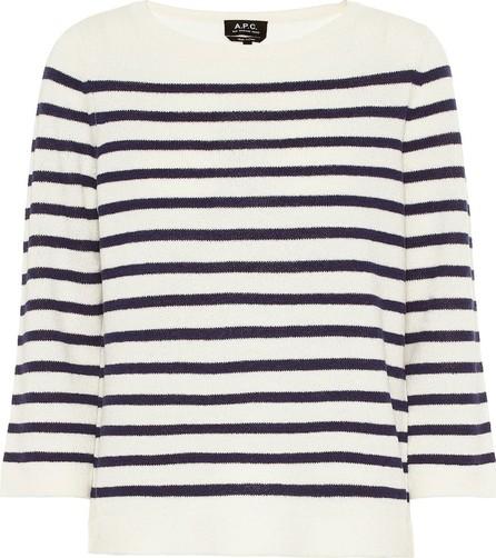 A.P.C. Claudine striped merino wool sweater