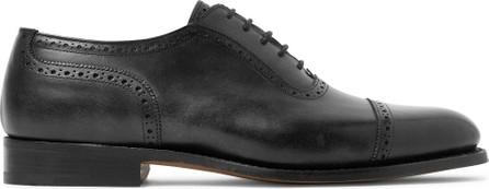 Tricker's Trenton Cap-Toe Leather Oxford Brogues