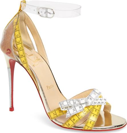 Christian Louboutin Metri Clear Ankle Strap Sandal