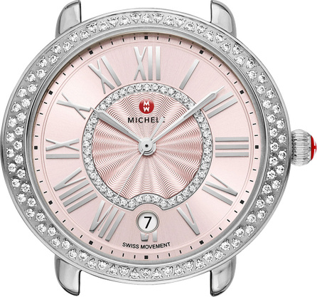 MICHELE 16mm Serein Diamond Watch Head, Blush Dial