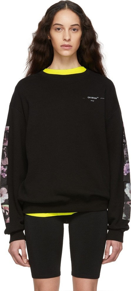 255bc9a3ab0366 Off White Black Flowers Pola Long Sweatshirt