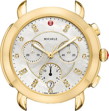 MICHELE Sidney 18K Watch Head with Diamonds, White/Gold