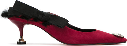 Andrea Bogosian Fur trim pumps
