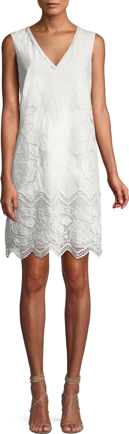 KOBI HALPERIN Camryn Floral-Embroidered Cotton Dress
