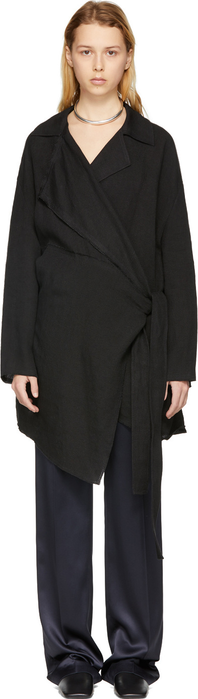 Acne Studios Black Aglaia Raw Coat