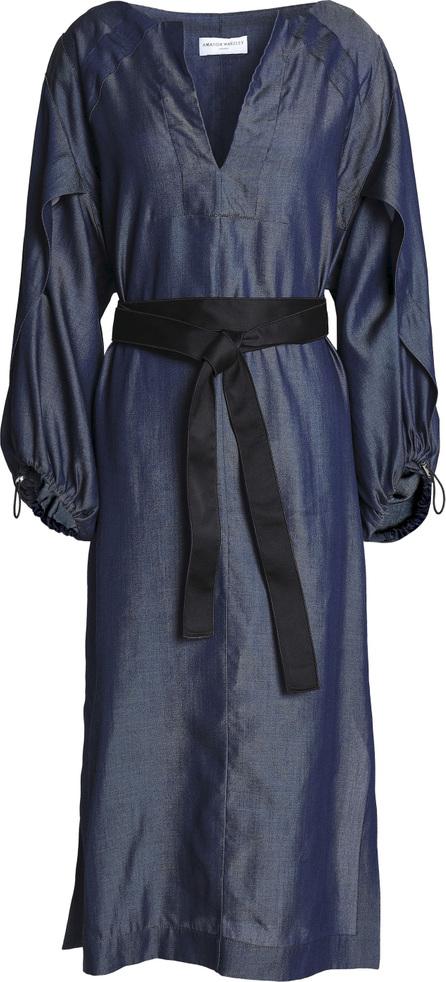Amanda Wakeley Belted chambray midi dress