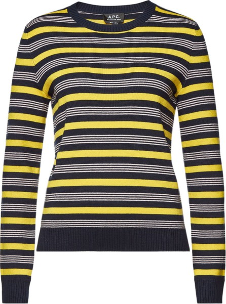 A.P.C. Isla Striped Pullover with Cotton