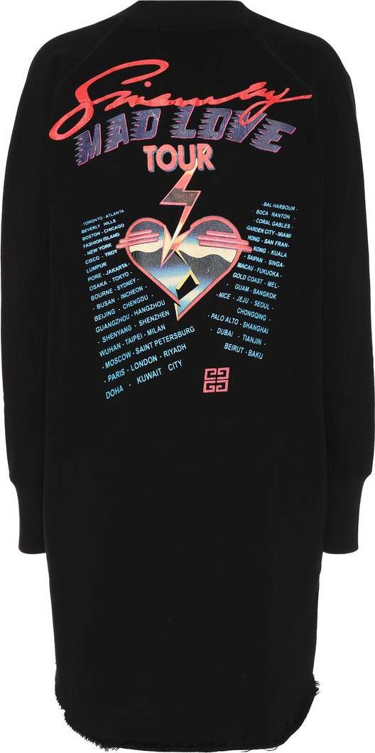 Printed cotton sweatshirt dress Givenchy vxGjUyAT