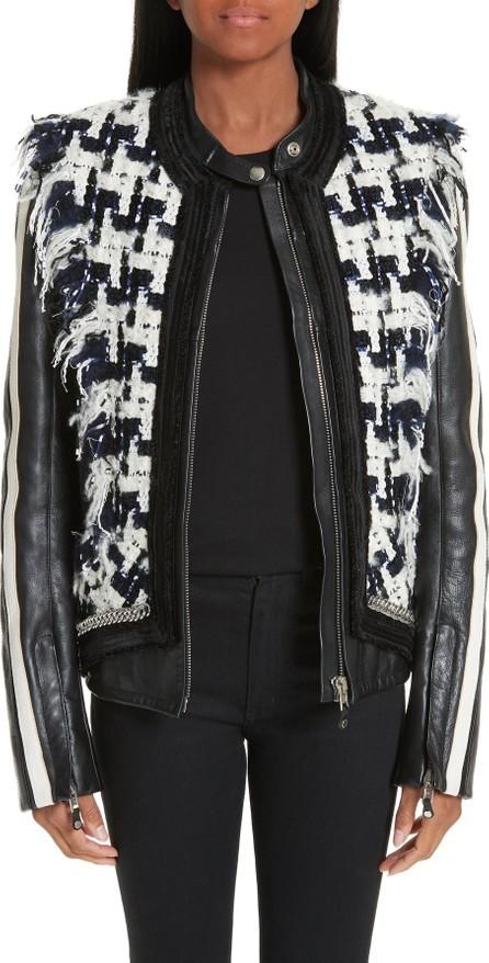 Alexander Wang Tweed Trim Leather Jacket