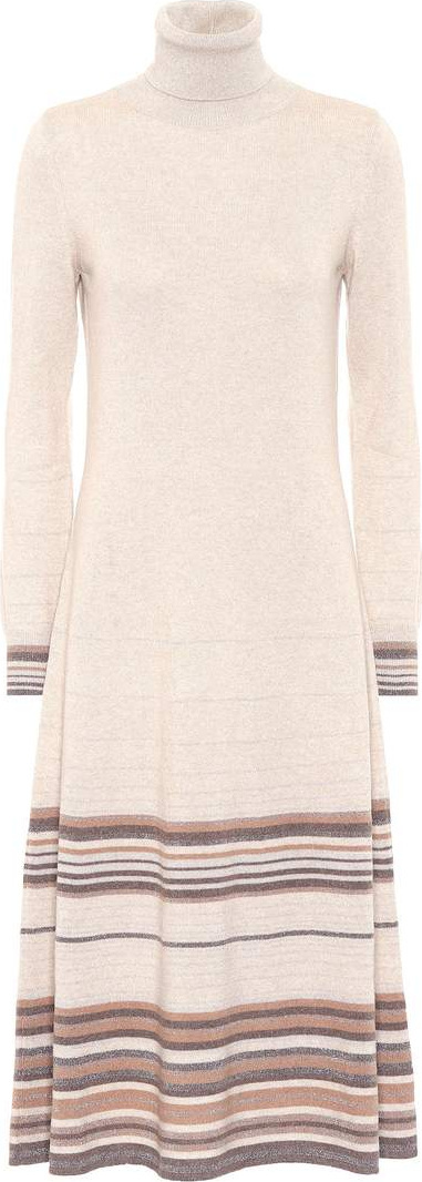 Agnona Striped cashmere dress