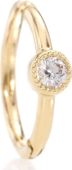 Maria Tash 18kt yellow gold single earring with diamond
