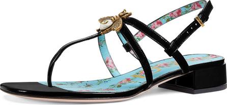 Gucci Louis Patent Strappy Sandal