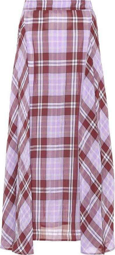 Victoria Beckham Plaid chiffon skirt