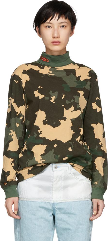 032c Green Camouflage WWB Turtleneck