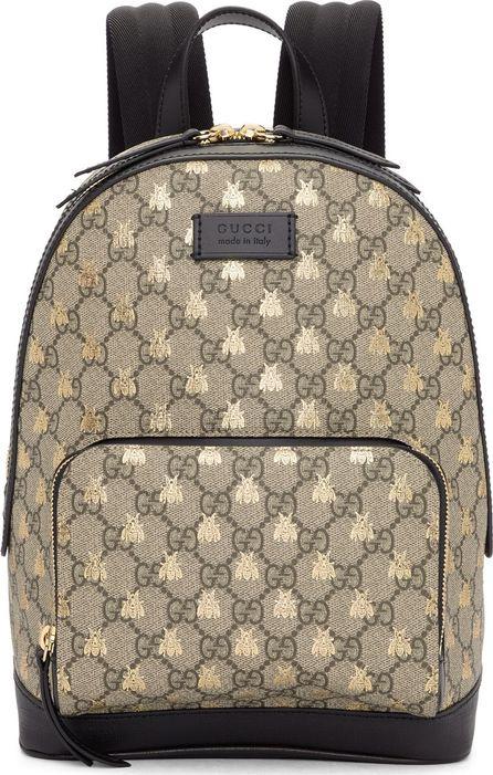 Gucci Brown GG Supreme Bestiary Backpack