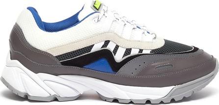Axel Arigato 'Demo' chunky outsole colourblock patchwork sneakers