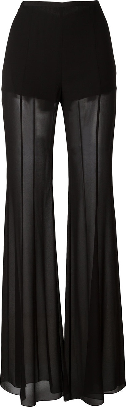 Alberta Ferretti sheer flared trousers