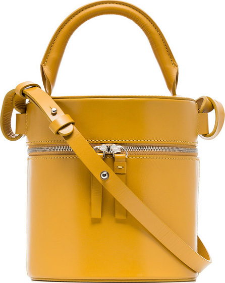 Building Block Yellow Drum leather shoulder bag