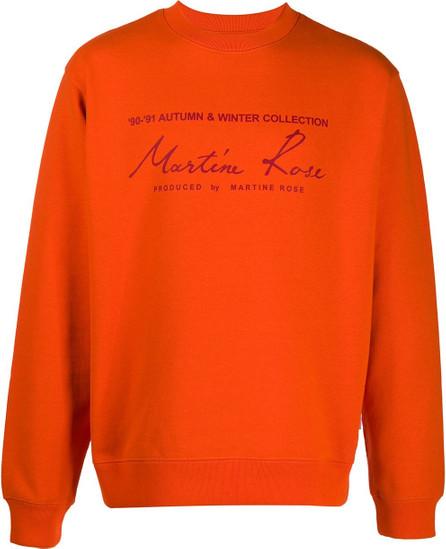 Martine Rose Graphic-print crew neck sweatshirt
