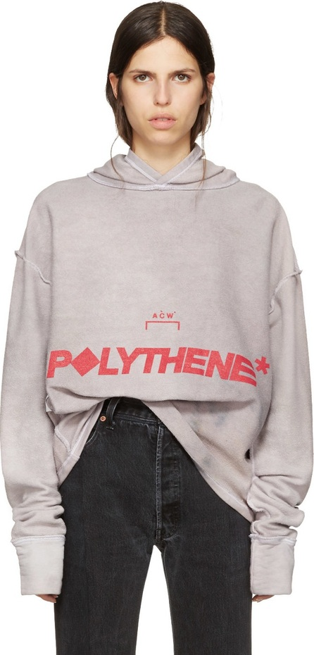 A-Cold-Wall* Reversible Grey Logo Polythene Hoodie