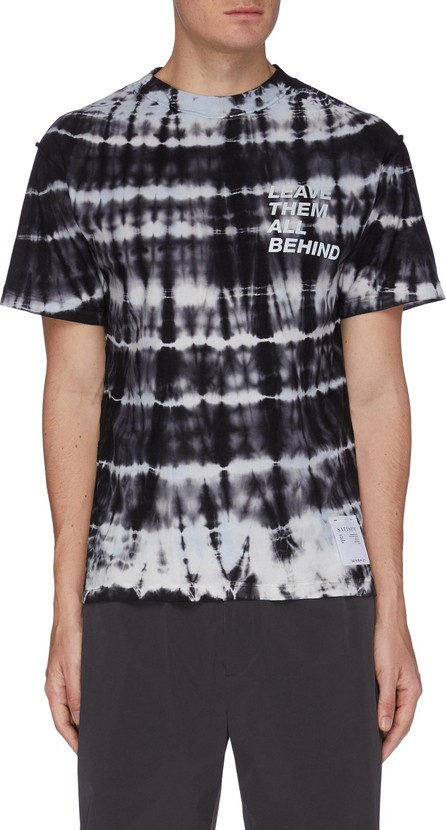 Satisfy 'Leave Them All Behind' Slogan Tie Dye Performance T-shirt
