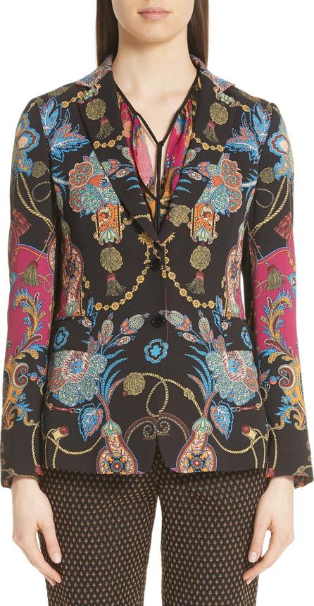 Etro Tassel & Paisley Print Blazer
