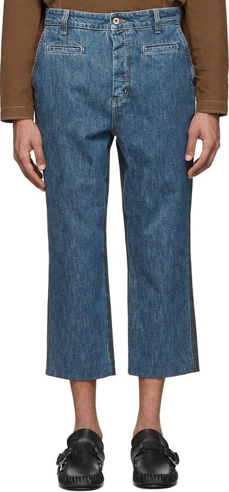 LOEWE Blue Cropped Fisherman Jeans