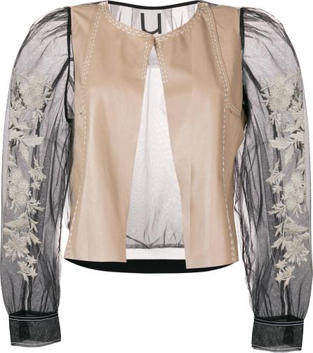 Aviu Embroidered sheer sleeves jacket