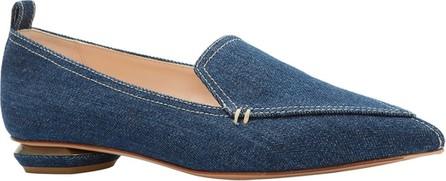Nicholas Kirkwood Beya Denim Pointed Loafers