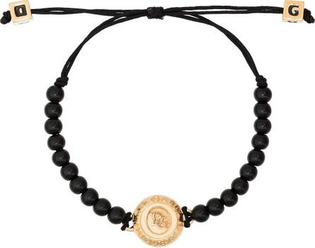 Dolce & Gabbana Logo engraved beaded bracelet