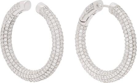 Alan Crocetti Encrusted Loophole sterling-silver earrings