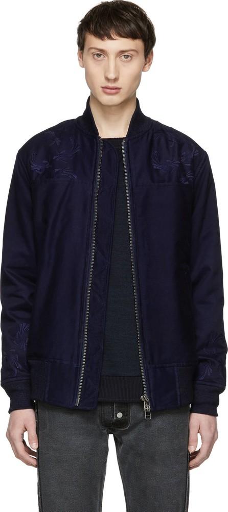 Blue Blue Japan Indigo Noshi Bomber Jacket